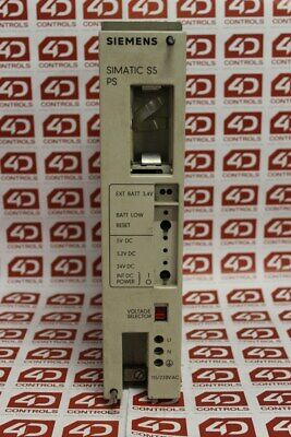 Siemens 6ES5951-7LD11 Simatic Power Supply, 115/220VAC, 7/15A - Used