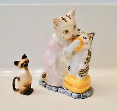 Vintage CAT FIGURINES Some MINIATURE Signed INTERESTING LOT ~Over 20 Pieces~