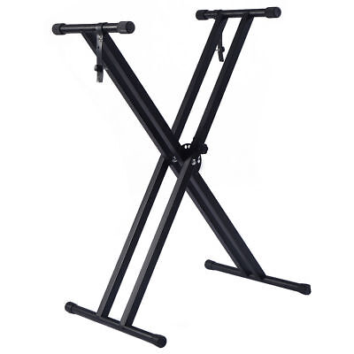 Adjustable Height Portable Electronic Music Keyboard Piano X-Stand Metal Rack