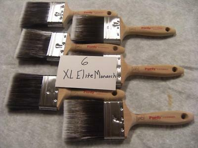 "Purdy paint brush lot of 6 XL Elite Monarch 3"".  No covers.  Excellent value!"