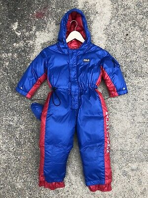 Vintage Youth Ralph Lauren Polo Sport toddler snowsuit tagged 4T snow beach RARE