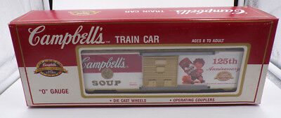 CAMPBELL'S ~ 125th ANNIVERSARY BOXCAR ~ TRAIN CAR ~ 0 GAUGE ~ 1994