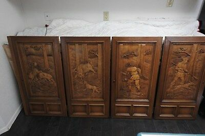 Antique French/German Hand Carved Wood Doors - Late 1800's - Early 1900's