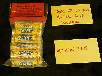 Rerpo Mint Wrappers Rolled Antique Slot Machine #mw8Pr Baseball Rolled