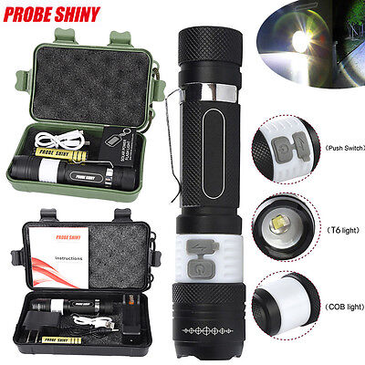 Rechargeable 6000LM XML T6 LED Flashlight Torch Lamp USB 18650 Charger UK