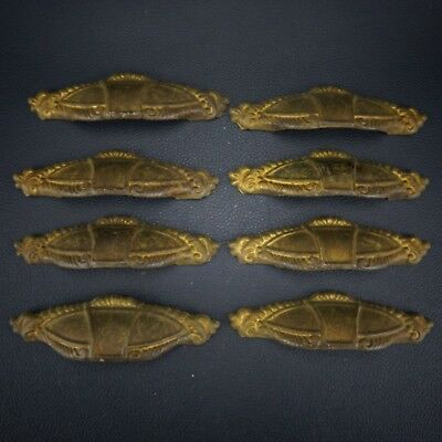 8 Vintage Antique Cast Brass Handle Pull Dresser Drawer Cabinet Pulls (Lot 42)
