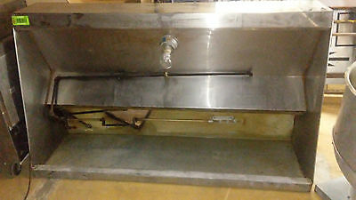 6' Low Profile Exhaust Hood with fan and ansul