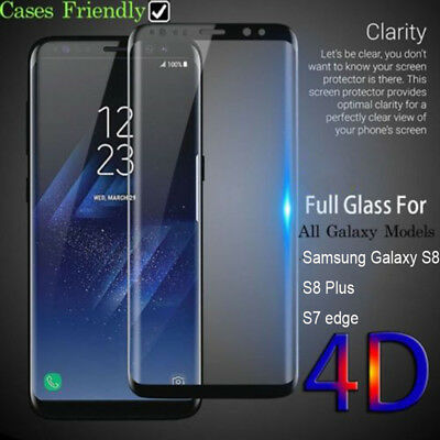 for Samsung Galaxy Note8/S8 Plus 4D Full Cover Tempered Glass Screen Protector