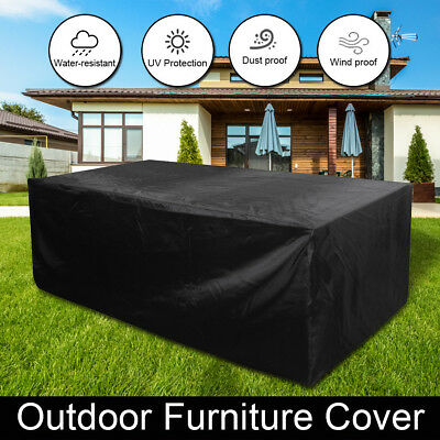 Outdoor Furniture Garden Table Chair Sofa Dust-proof Waterproof Cover 4 Sizes