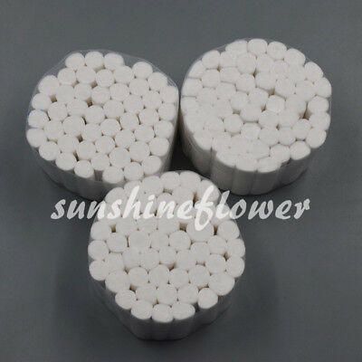 100 Packs Pliable Soft Rolls New Dental Absorbent Cotton Fibers Disposable 5000x