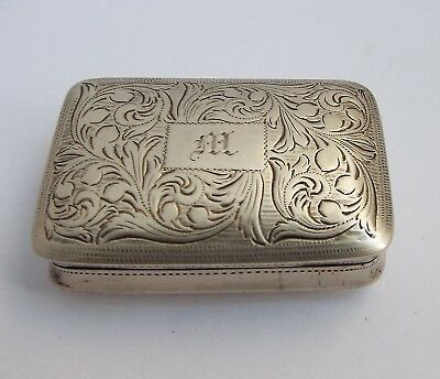 Large English Antique Georgian 1832 Solid Sterling Silver Vinaigrette For Repair