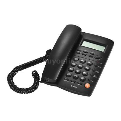 Black LCD Home Corded Phone Telephone Business Home Office Desktop Phone W2D5