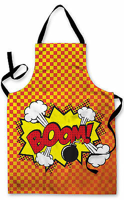 Splashproof Novelty Apron Cartoon Boom! Cooking Painting Art Kitchen BBQ Gift