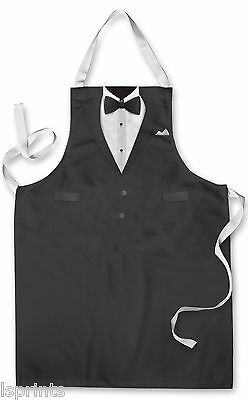 Splashproof Novelty Apron Tuxedo Design Cooking Painting Art Kitchen BBQ Gift