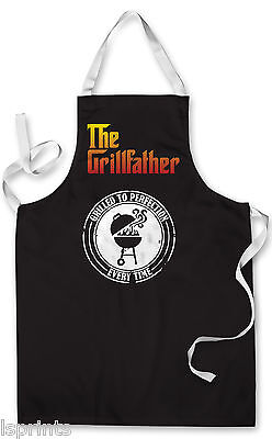 Splashproof Novelty Apron The Grill Father Cooking Painting Art Kitchen BBQ Gift