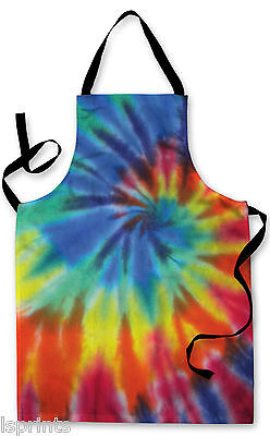 Splashproof Novelty Apron Tie Dye Cooking Painting Art Kitchen BBQ Gift