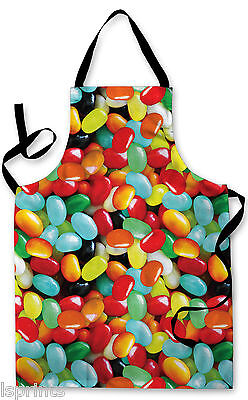 Splashproof Novelty Apron Jelly Sweets Cooking Painting Art Kitchen BBQ Gift