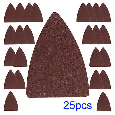 25pcs Finger Sand Paper Kit Oscillating Tool MultiTool Pad for Makita Fein Ryobi