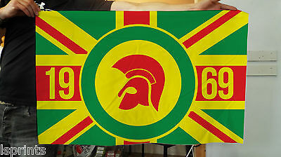 Trojan Records Banner -  Jamaica Union Jack Fabric Flag & 4 Brass Eyelets - 1969