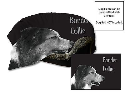"""45""""x31"""" BORDER COLLIE Dog Bed Car Blanket Soft Fleece Throw Cover Large Pet"""