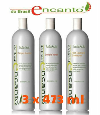 ENCANTO do Brasil Brazilian Keratin Treatment Straightening Treatment 3 x 473 ml