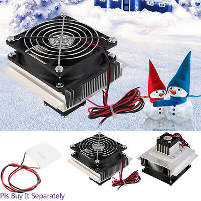 DC 12V 60W Semiconductor Refrigeration Thermoelectric Peltier Cooler Fan Kit BY1