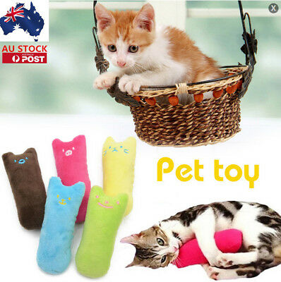 Fun Interactive Cat Pillow Pets Toy Teeth Grinding Catnip Interactive Claws AU