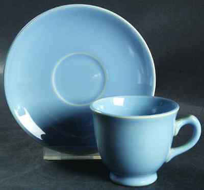 Taylor, Smith & Taylor LURAY PASTELS BLUE Demitasse Cup & Saucer 1348594