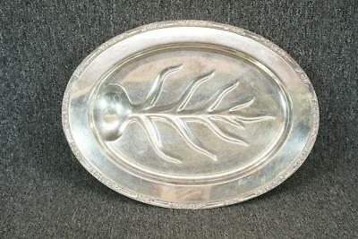 "Roger's & Bro #2310 18.25"" Long Oval Footed Serving Tray Silver Plate"