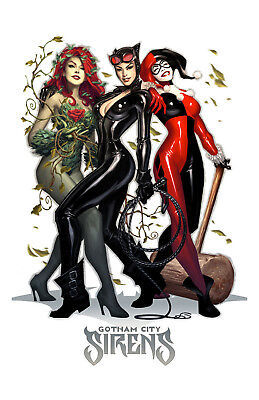 Gotham City Sirens Poster Photo 11x17 in / 28x43 cm Cartoons