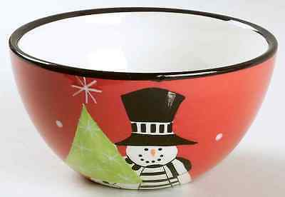 Certified International HOLIDAY SNOWMAN Tree Ice Cream Dish 6316148
