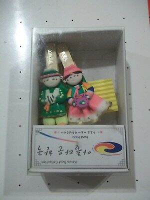 Korean figure clothespin magnets
