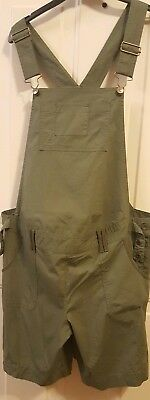 Announcements Maternity Womens 12/14 Large Green Short Overall Romper Shorts
