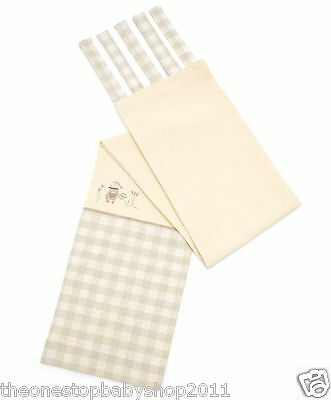 Mamas and Papas MURPHY & ME UNISEX TIE TOP LINED CURTAINS 132 x 160 cm £85 NEW