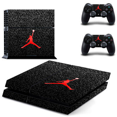 Air Jordan 23 Skin Sticker Cover For PS4 Console&Controller 4 LED Light Bars