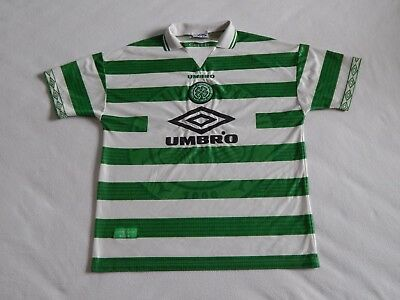 Glasgow Celtic Fc 1997-99 Mens Football Home Shirt ,mens Large