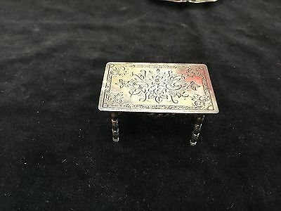 """antique sterling silver marked 835 miniature doll house table 2"""""""