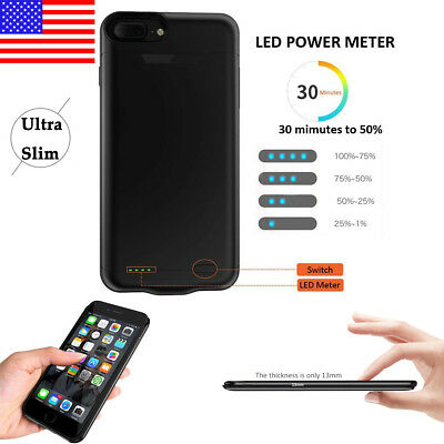 Ultra-thin Slim Power Bank Backup Battery Pack Charger Case For iPhone 7 8 Plus
