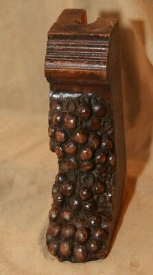 Antique Carved Wood Architectural Bracket Remnant Grapes