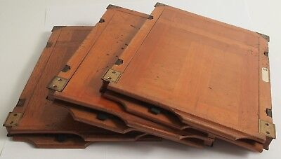 3 Historische Holz-Planfilmkassetten 18x24, Wooden Cut Film Holder, Wet Plate