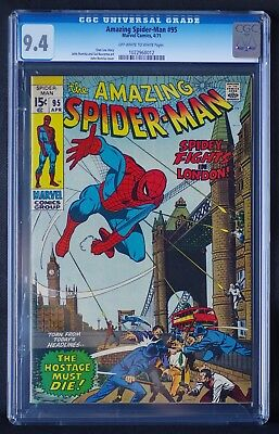The Amazing Spider Man 95 CGC 9.4 NM Marvel Comics 1971 Avengers Endgame