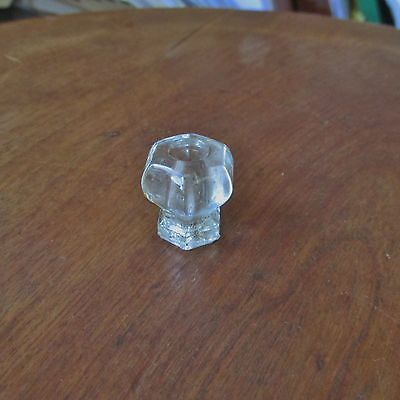 Antique Victorian Clear Glass Drawer Knob or Pull
