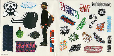 """Beck - Set Of 6 Pages Of Stickers From """"the Information"""" Deluxe Limited Cd Box"""