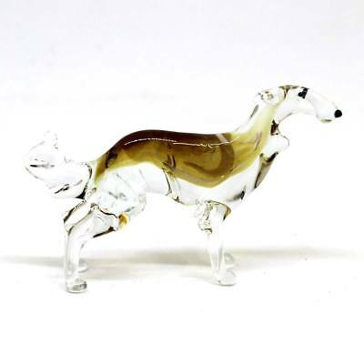 Middle blown glass figurine Dog - Borzoi / Russian Wolfhound Russian Murano #166