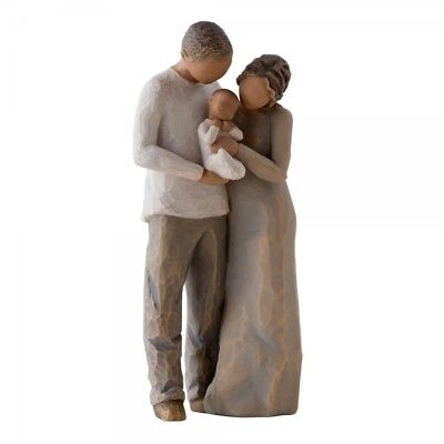 New & Boxed Willow Tree Figurine Couple with Baby 'We are Three ' 27268