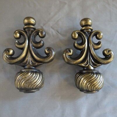 Vintage Large Solid Brass Ornate Furniture drawer, Door Pulls/Handles/Hardware