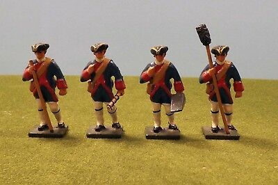 Lot of Four American Revolutionary War Artillery Crew 54 mm Toy Soldiers