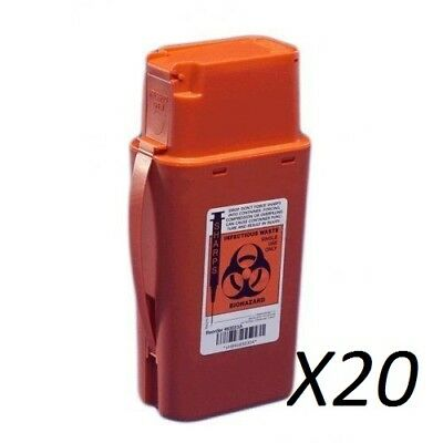 Lot Of 20 Covidien 8303SA  SharpSafety Sharps Container Transportable 1 Quart