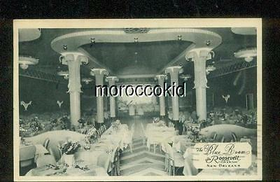 1941 USED BLACK AND WHITE POSTCARD BLUE ROOM at ROOSEVENT HOTEL NEW ORLEANS LA