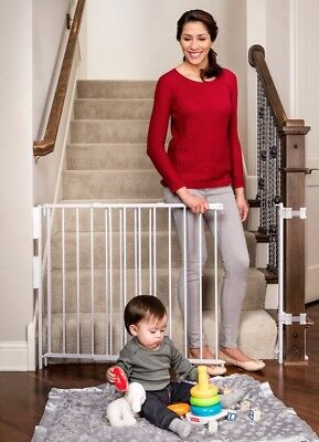 OpenBox Regalo Extra Tall Top Of Stairs Gate, With Banister and Wall Mounting Ki